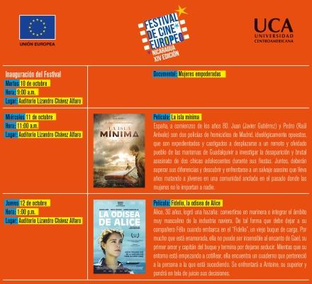 Cartelera UCA Festival de cine europeo